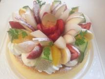 チーズケーキ21cm 季節のフルーツ