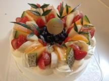 生クリーム21cm 季節のフルーツ