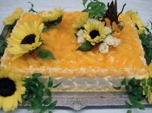真夏のオレンジウエディングケーキ(特注)