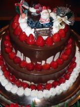 クリスマスウエディングケーキ(特注)